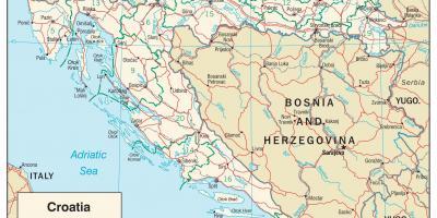 lidl térkép Horvátország térkép   Térképek, Horvátország (Dél Európában   Európa) lidl térkép